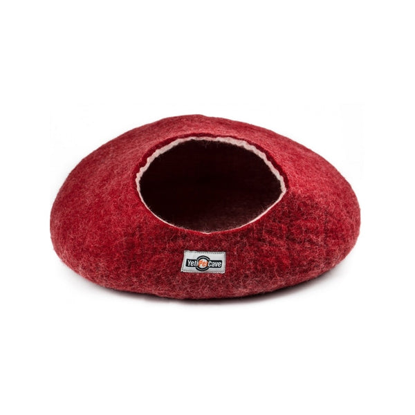 Yeti Wool Cat Cave, Color: Red