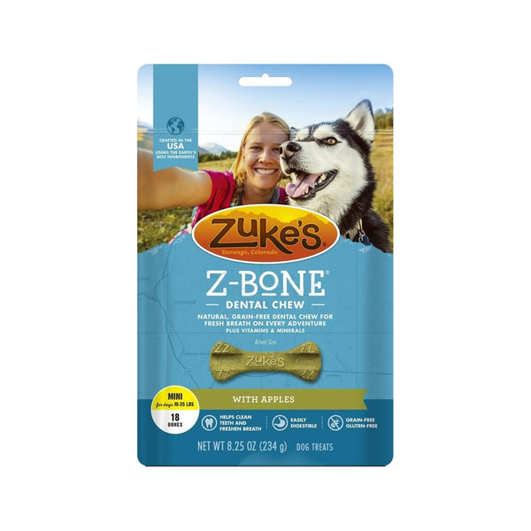 Z-Bones Clean Apple Crisp, Grain-Free for Dogs, Mini