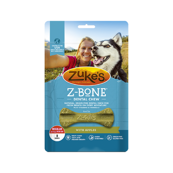 Z-Bones Clean Apple Crisp, Grain-Free for Dogs, Large
