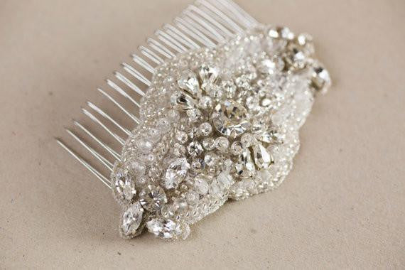 Bridal headpiece, hair comb Lia
