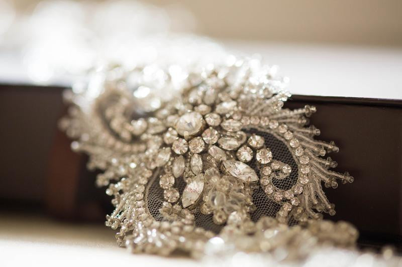 Vintage inspired wedding dress belt