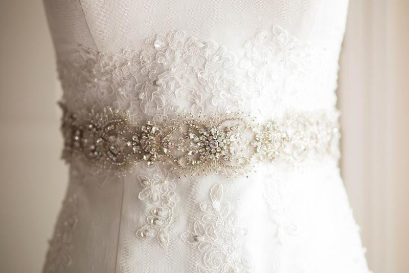 Vintage wedding dress sash and belt