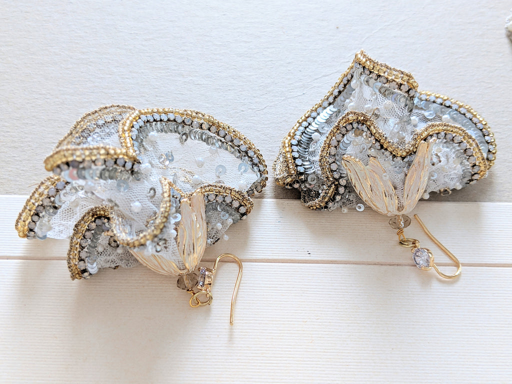 Statement wedding earring