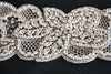 Crystal beaded wedding dress belt, Feulr