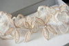 Gold leaf wedding garter