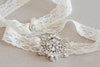 Bridal garter set - Viva mini silver