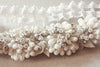 Bridal garter set - Floral white lace (one qty ready to ship)
