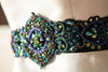 peacock themed bridal dress belt