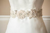 wedding dress sash - ash