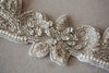 wedding dress sash - silver