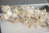 Bridal garter set - Gold leaf-v2