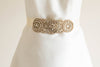gold wedding dress sash