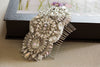 Bridal hair comb in silver and antique silver - Style H27
