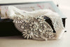 embellished bridal lace garter G06