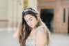 bridal headband fall leaf style -silver