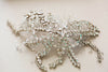 Large handwired silver bridal hair comb - Style H40