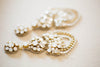 bridal earrings in gold