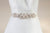 Ivory and offwhite beaded bridal belt - Style sash R24 (Ready to ship)