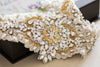 gold and ivory bridal sash