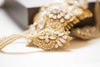 Gold and opal bridal hairpiece - Style H42