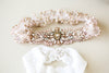 Blush and rosegold wedding garter