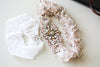 Wedding Garter set in blush color