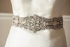 Antique silver bridal dress sash