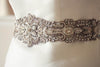 Bridal sash in antique silver - 18 inches
