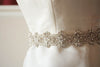 Bridal sash - Viva 18 inches Silver