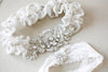 Designer Wedding Garter Set with rhinestones - Style R121