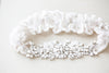Embellished Bridal Garter in Blush and Opal  - Style R115