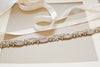 Bridal Belt and Sashes in Opal - Style S36