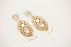 Wedding Earring Dangle Gold