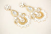 Wedding Dangle Earrings Gold