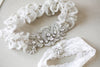 Embellished bridal garter set - Style R121