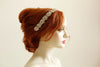 Swarovski and gold color bridal headband - Style H07