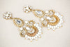 Bridal Earrings Gold Style E13