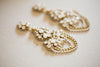 Gold Wedding Earring by Millieicaro Style E01
