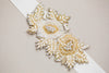 Gold bridal sash - Perle