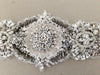 Bridal sash - Calida Antique Silver (Ready to ship)