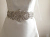 Bridal dress sash - Zinc