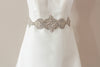 wedding dress sash  - hearts