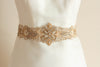 designer bridal sash in gold