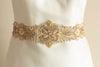 Ivory gold bridal dress sash