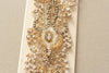 Bridal sash - Ivory Gold