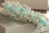 Bridal garter - Dew drop pearls pick your color