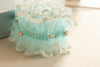 Tulle wedding garter in blue