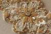 bridal dress belt - magnolia gold