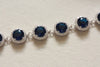 Bridal jewelry - Fiori bracelet blue