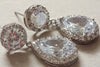 Bridal jewelry - earrings Fiori (ready to ship)